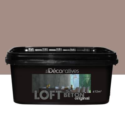 Pittura decorativa LES DECORATIVES Loft Original 2 l marrone milano effetto cemento