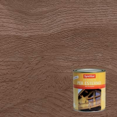 Vernice per legno da esterno liquido SYNTILOR 1 L noce scuro lucido