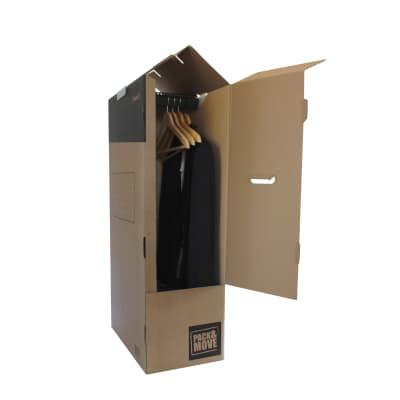 Scatola di cartone per vestiti 2 onde H 100 x L 50 x P 30 cm