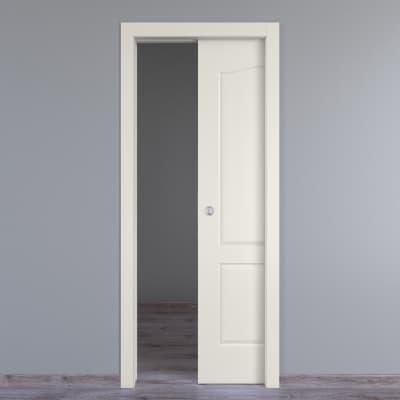 Porta scorrevole a scomparsa Ipanema bianco L 70 x H 210 cm reversibile