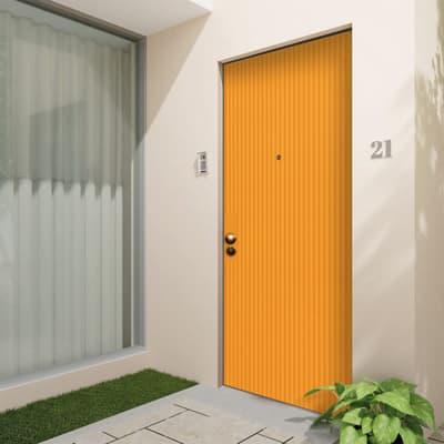 Porta blindata Crazy arancione L 90 x H 210 cm destra