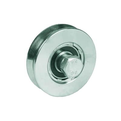 Ruota in acciaio x H 10 cm