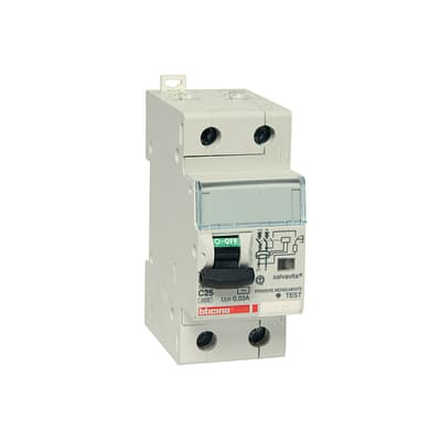 Interruttore magnetotermico differenziale BTICINO GC8813AC25 1 polo 25A 2 moduli