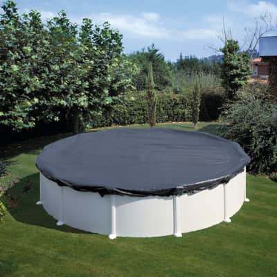 Copertura per piscina invernale NATERIAL CI551NAT in polietilene 550 x 550 cmØ 640 cm