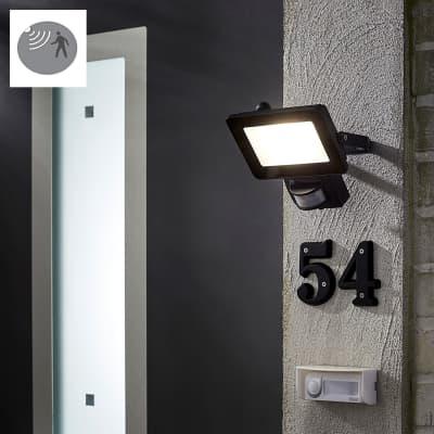 Proiettore LED integrato con sensore di movimento Yonkers in alluminio, antracite, 20W 1300LM IP44 INSPIRE