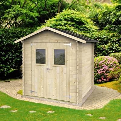 Casetta da giardino in legno Calla,  superficie interna 3.03 m² e spessore parete 19 mm
