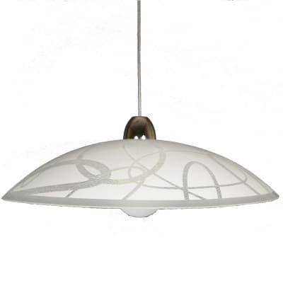 Lampadario Design Anelli bianco in vetro