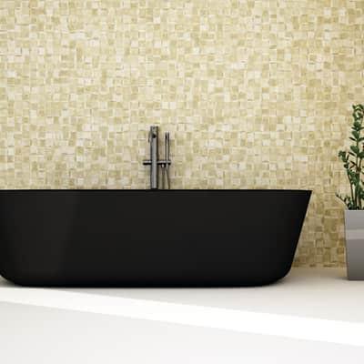 Mosaico H 30 x L 30 cm dorato