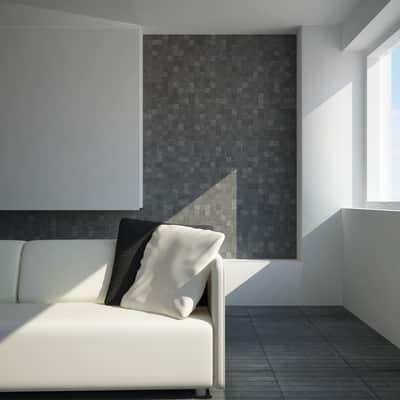 Mosaico H 30.5 x L 30.5 cm nero