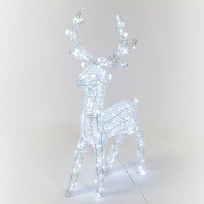 Renna 200 lampadine bianco freddo H 95 cm
