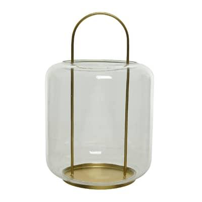 Portacandela oro H 35 cm,