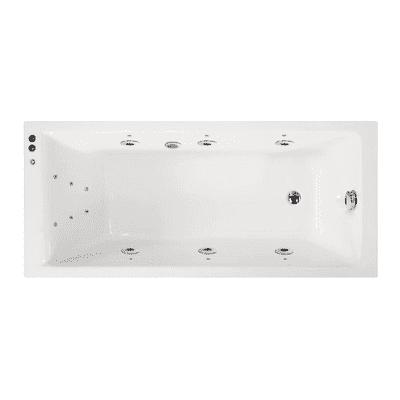 Vasca idromassaggio rettangolare 180, 80 cm, 6 bocchette,
