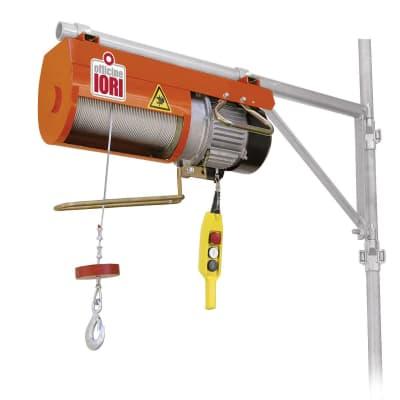 Paranco elettrico Monotiro portata max 200 kg cavo da 100 m