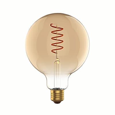 Lampadina LED, E27, Globo, Ambra, Luce calda, 6W=400LM (equiv 35 W), 360° , LEXMAN