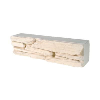 Mattoni per muretto basso Gironda in calcestruzzo bianco
