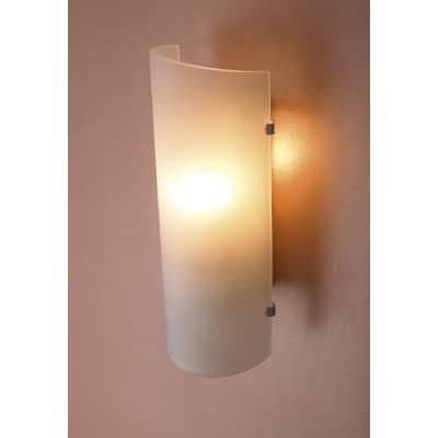 Applique classico Hanko bianco, in vetro, 26.0x10.5 cm,