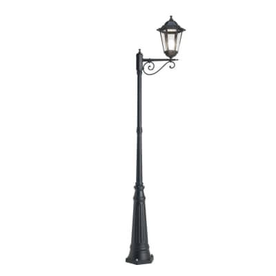 Palo della luce Geko H307.5cm in alluminio, nero, E27 1xMAX100WW IP43