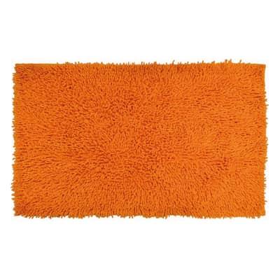 Tappeto bagno rettangolare Bouclettes in 100% cotone arancione 80.0 x 50.0 cm