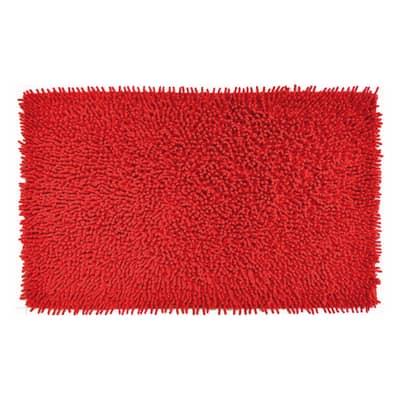 Tappeto bagno rettangolare Velvet in 100% cotone rosso 80.0 x 50.0 cm