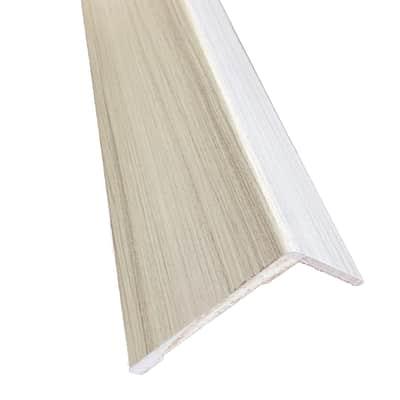 Kit coprifilo Pigalle 2,5 pz in legno  palissandro bianco L 2250 x P 9 x H 90 mm