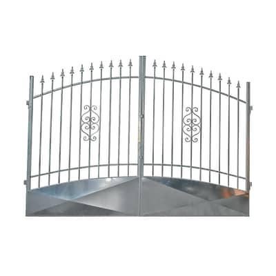 Cancello Etna in ferro zincato L 350 x H 170 - 195 cm