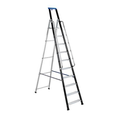 Scala doppia GIERRE Serie 7 in alluminio 10 gradini per lavori fino a 4.32 m
