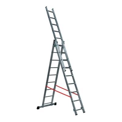Scala a sfilo GIERRE Modula 3 rampe in alluminio 3x9 gradini per lavori fino a 6.2 m
