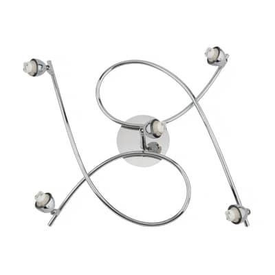 Base per faretto componibile G9 in metallo cromato lucido IP20 INSPIRE