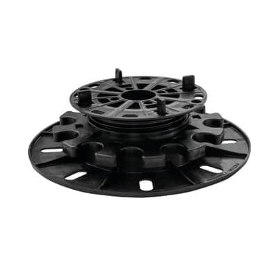 Supporto per pavimento nero Sp 100 mm