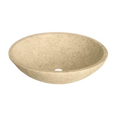 Lavabo da appoggio Ovale in pietra L 68 x P 40 x H 15 cm crema