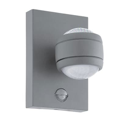 Applique Sesimba LED integrato in acciaio inox, argento, 3.7W 560LM IP44