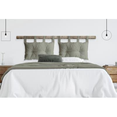Cuscino testata letto ECOPELLE grigio chiaro 45x70 cm
