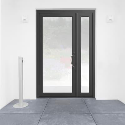 Portoncino d'ingresso Condo7 grigio L 132 x H 210 cm sinistra