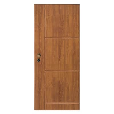 Porta blindata Idro golden oak L 90 x H 210 cm destra