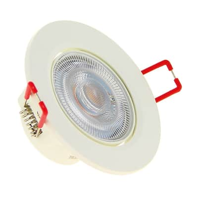 Faretto fisso da incasso orientabile tondo Switch in plastica, bianco, diam. 8.6 cm LED integrato 6.5W 345LM IP20 XANLITE
