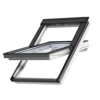 Finestra da tetto VELUX GGU FK06 0086 manuale L 66 x H 118 cm bianco