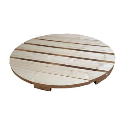 Piano tavolo tondo in abete grezzo 44 mm Ø 800 mm