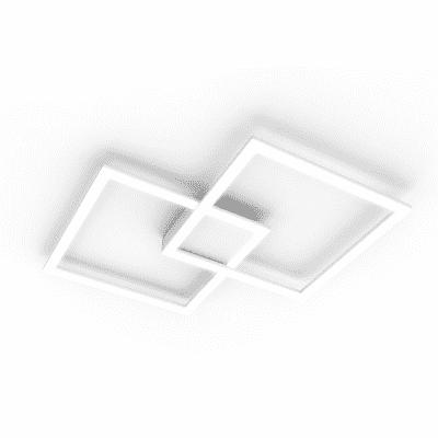 Plafoniera contemporaneo Kira LED integrato bianco, in alluminio, 56x56 cm,