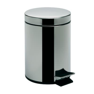 Pattumiera da bagno a pedale Argenta grigio / argento 5 L