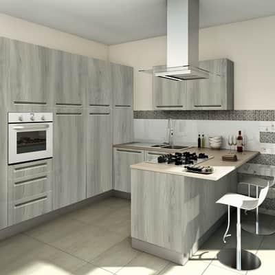 Cucina in kit DELINIA tony olmo bianco