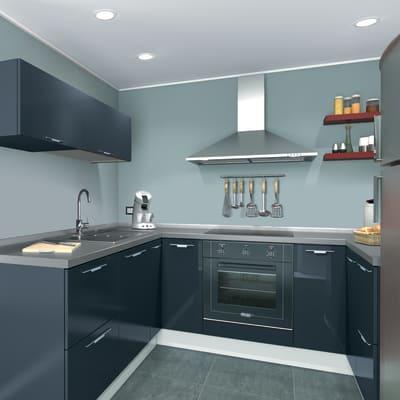 Cucina in kit DELINIA monza blu avio bianco