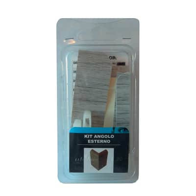 Angolare esterno in kit rovere grigio 5 x 11 cm Sp 20 mm