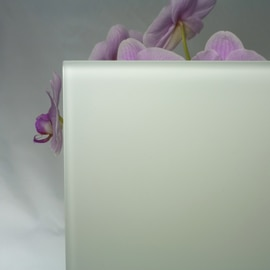 Vetro acidato verniciato bianco 10 mm