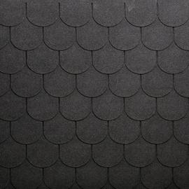 Tegole canadesi coda di castoro Bardoline Classic nero in bitume 100 x 34  cm, spessore 3 mm
