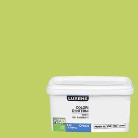Idropittura lavabile Mano unica Verde Botanico 4 - 2,5 L Luxens