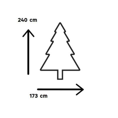 Albero di Natale artificiale H 240 cm