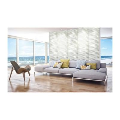 Rivestimento decorativo river bianco prezzi e offerte online leroy merlin - Rivestimento decorativo pareti ...