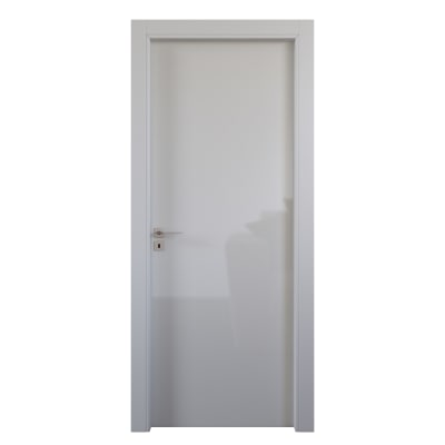 Porta da interno battente Massaua white bianco 80 x H 210 cm dx