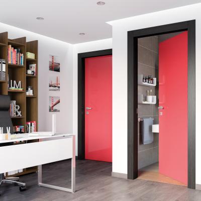 Porta da interno battente Dalì rosso lucido 70 x H 210 cm sx