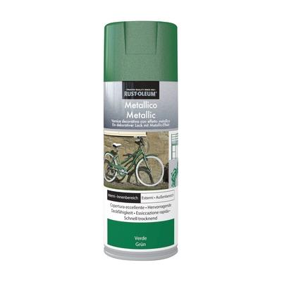 Smalto spray Rustolium verde metallizzato 400 ml